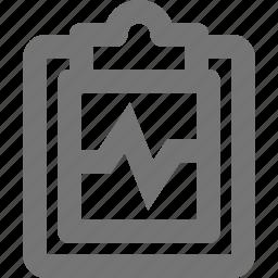 clipboard, graph, health, healthcare icon