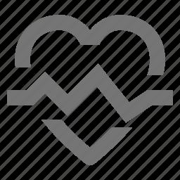 health, healthcare, heart, pulse icon