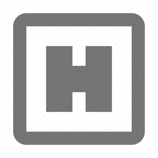 hospital, sign icon