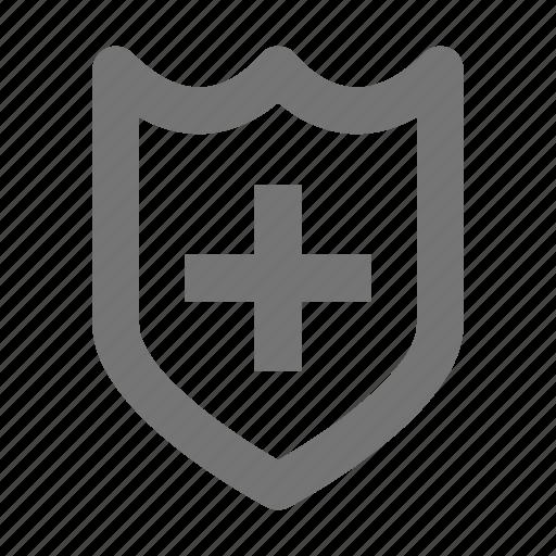 health, healthcare, medical, security, shield icon