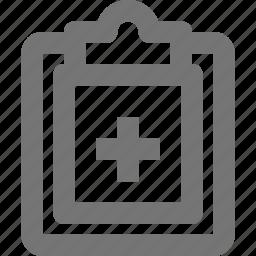 clipboard, healthcare, prescription icon