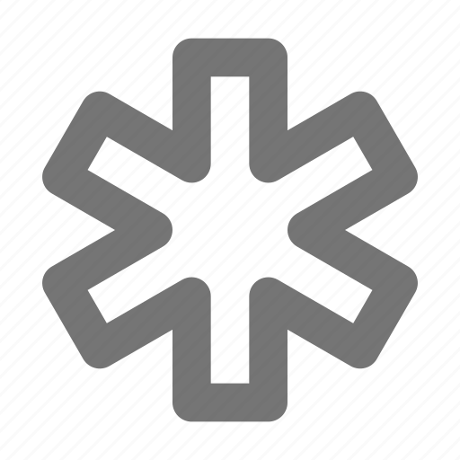 aid, asterisk, clinic, healthcare, hospital, medical, sign icon