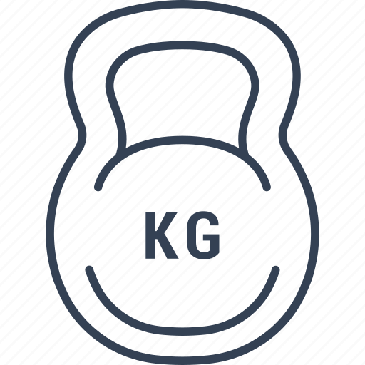 beauty, dumbell, health, kg icon