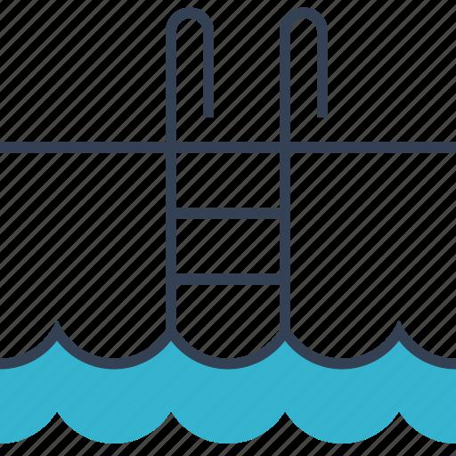 beauty, health, swim, water icon