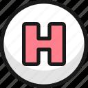 hospital, sign, circle