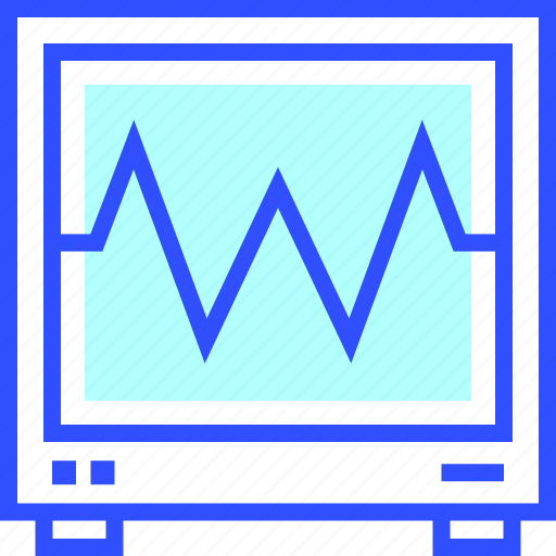 electrocardiogram, fit, fitness, game, health icon