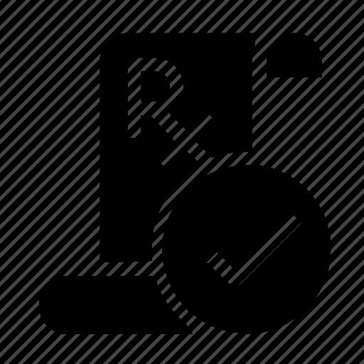 confirm, perscription icon