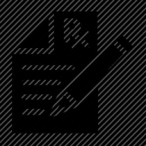 document, perscription, write icon