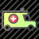 ambulance, emergency, health, healthcare, medical, vehicle icon
