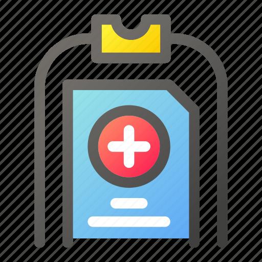Clipboard, health, healthcare, medical, medicine, treatment icon - Download on Iconfinder