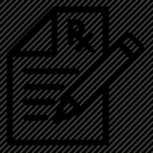 document, healthcare, prescription icon