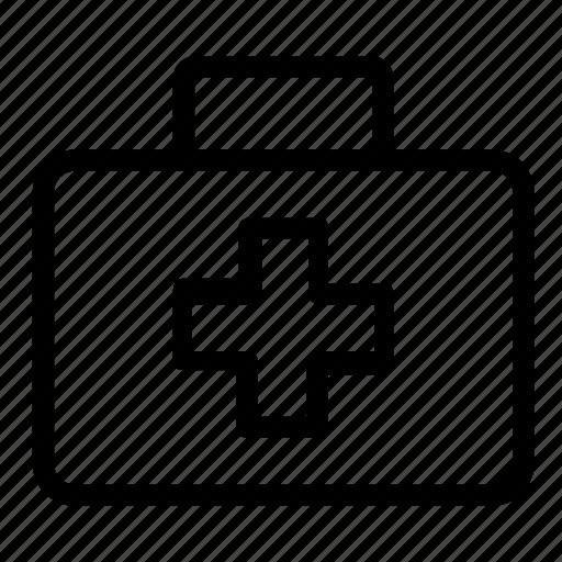 aid, box, emergency, first icon