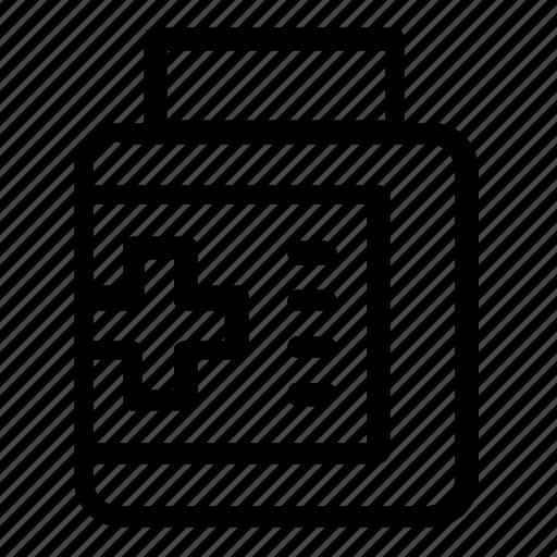 bottle, health, medical, medication icon