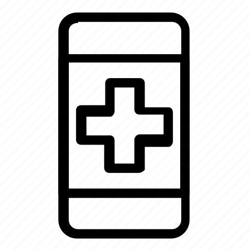 healthcare, medical, smartphone icon
