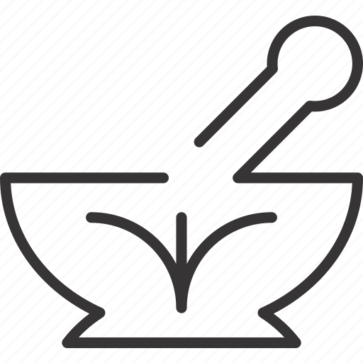 health, mortar, pestle, pharmacy icon