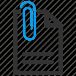 attach, attachement, attachment, clip, document, paper, paperclip icon