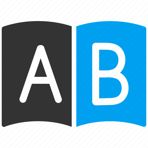 abc, address, book, contacts, dictionary, list, notebook icon