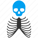 anatomy, body, bones, dead, death, skeleton, skull icon