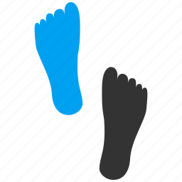 audit, feet, foot, footprint, steps, track, tracking icon