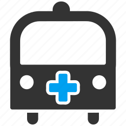 ambulance, bus, emergency, healthcare, hospital, medicine, transport icon