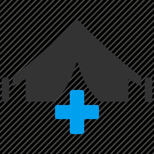 aid, ambulance, army hospital, field, medical, medicine, tent icon