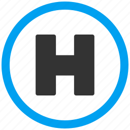 area, healthcare, helicopter, hospital, land, landing, place icon