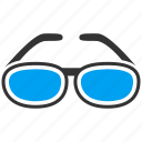eyeglasses, glasses, magnifier, spectacles, sunglasses, view, zoom icon