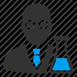 analytics, chemical, chemist, chemistry, clever, retort, scientist icon