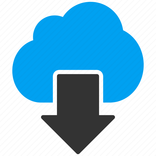 cloud, cloudscape, download, downloading, navigation, online, storage icon