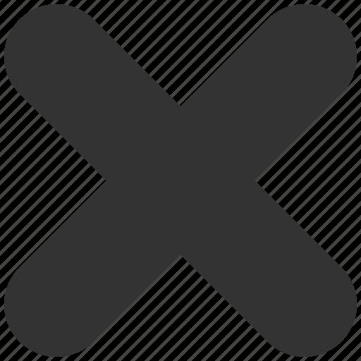cancel, close, delete, erase, fail, remove, stop icon