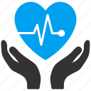 cardio, care, control, healthcare, heart, insurance, medical icon