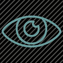 care, corneea, eye, health icon