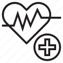 care, health, heart, hospital, medical, rate icon