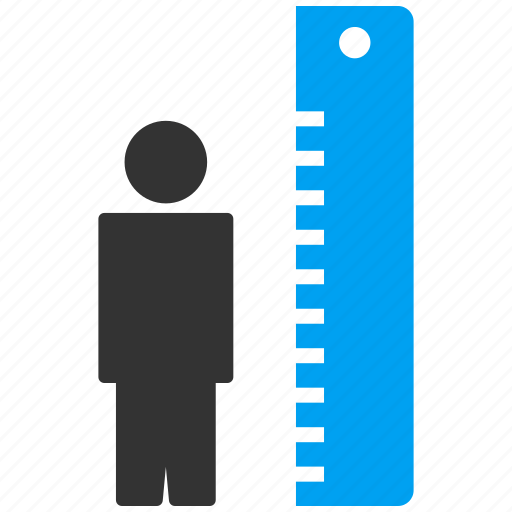 height, length, measure, meter, patient, size, strength icon