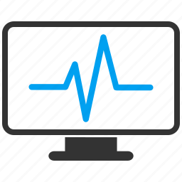 analytics, cardiogram, chart, graph, monitor, monitoring, pulse icon
