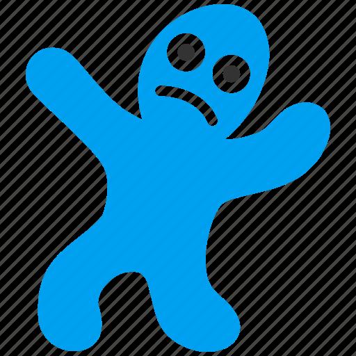 avatar, cookie man, figure, patient, person, sick, victim icon