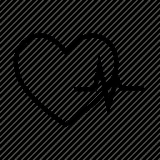 ecg, heart beat, heart rate, lifeline, pulsation icon