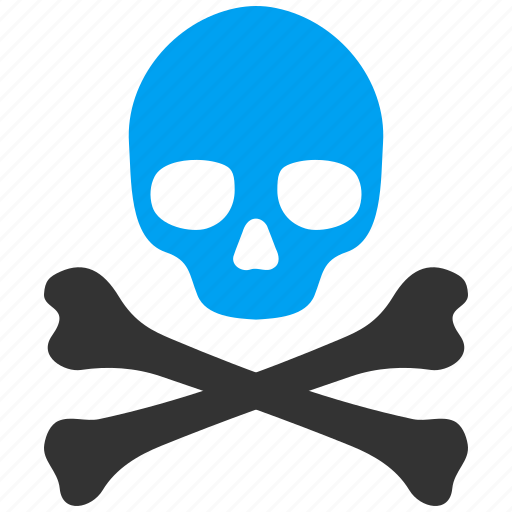 alarm, alert, bones, danger, dead, death, skull icon