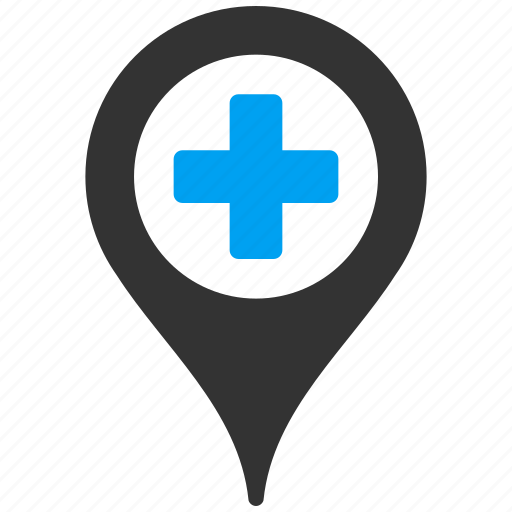 gps, hospital, location, map, marker, medical, pin icon