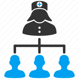 links, nurse, patients, relations, structure, students, users icon