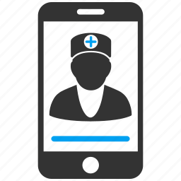 communication, consulting, doctor, internet, medicine, mobile, online icon