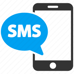 communication, connection, message, phone, send, send sms, smartphone icon