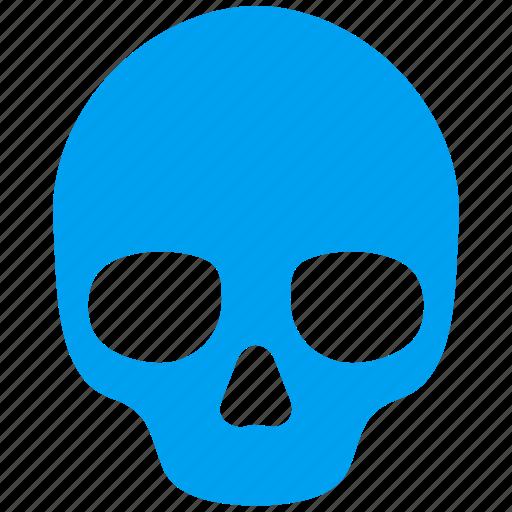 attention, caution, danger, death, hazard, skull, warning icon