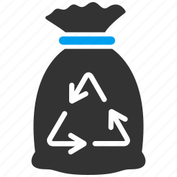 delete, garbage, recycle, recycle bin, sack, trash, waste icon