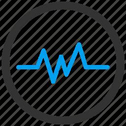 ambulance, cardiogram, ecg, emergency, heart pulse, heartbeat, medical graph icon
