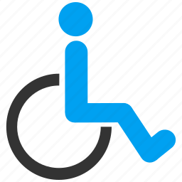 damaged, disabled, handicap, invalid person, patient parking, transportation, wheelchair icon