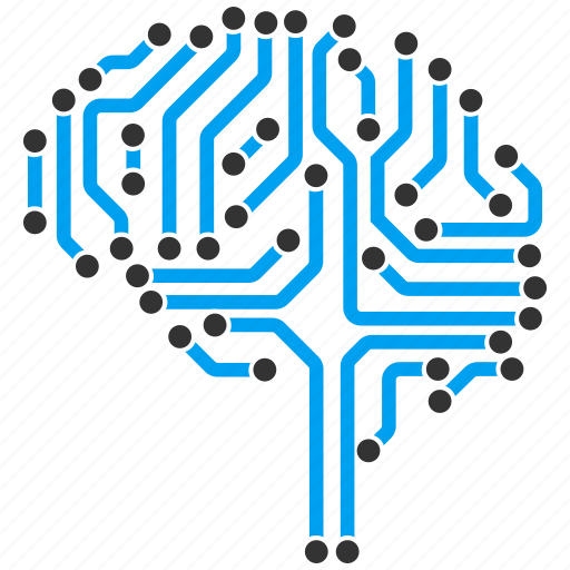 brain interface, computer, digital intellect, electronic, memory, mind, technology icon