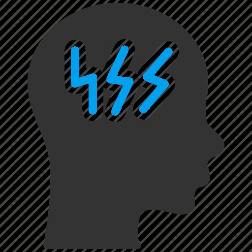 brain, head ache, idea, mind, problem, sick, solution icon
