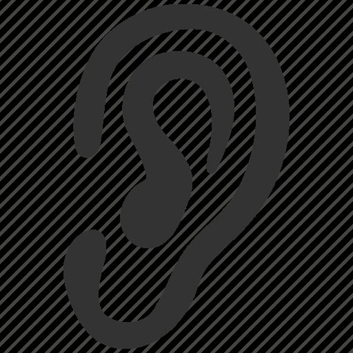 audio, communication, ear, hear, listen, media, sound icon