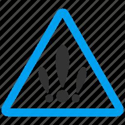 alarm, alert, danger, error, exclamation, multiple problems, problem icon